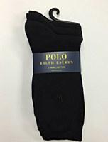 Polo Ralph Lauren 3 /pk Black Mid Calf Sock