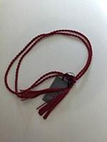 Rope Tassel Belt - Red