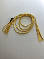 Rope Tassel Belt - Yellow