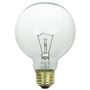 40 Watt G25 Globe Bulb, Medium Base, Clear