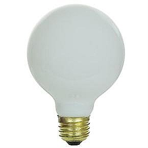 40 Watt G25 Globe Bulb, Medium Base, White