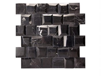 "Adamant Marquina Mosaic on 11.6X11.65"" Sheet"