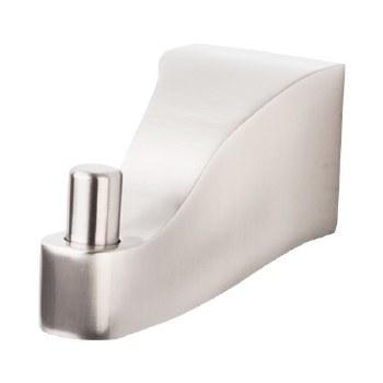 Aqua Bath Single Robe Hook in Brushed Satin Nickel