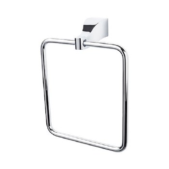 Aqua Bath Towel Ring in Polished Chrome