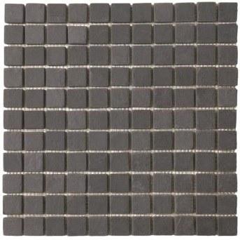 Black Slate Mosaic 1X1 on a 12X12 Sheet