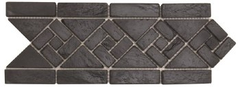 "Black Arrow Slate Border 4-3/4 X 12"", per piece"