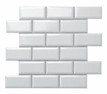 Beleved Subway White Ceramic on 12X12 Sheet