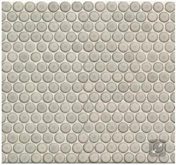 "360 Dove Grey Penny Round Mosaics 3/4"" on 12X12 Sheet, DEC360DOG34G"