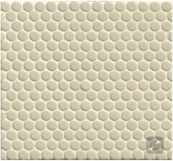 "360 Off White Penny Round Mosaics 3/4"" on 12X12 Sheet, DEC360OFW34G"
