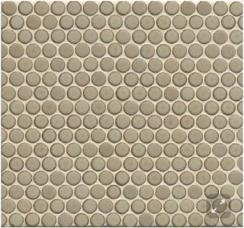 "360 Pumice Matte Penny Round Mosaics 3/4"" on 12X12 Sheet, DEC360PUM34M"