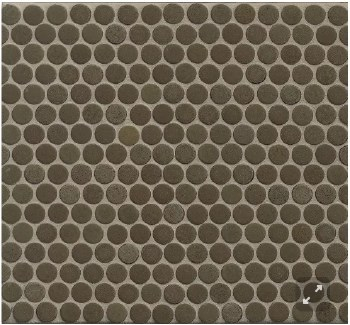 "360 Shale Matte Penny Round Mosaics 3/4"" on 12X12 Sheet, DEC360SHA34M"