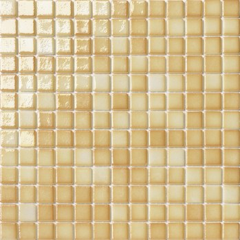 "Titanio Caramel Mosaic 1X1"" on 13.25X13.25"" Sheet"