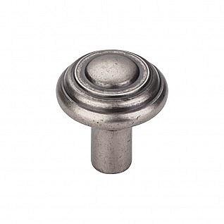 """Aspen Button Knob 1-1/4"""" in Silicon Bronze Light"""