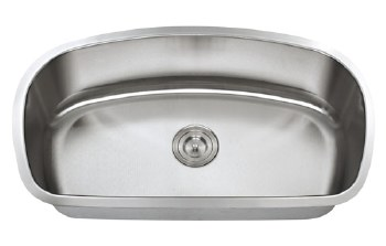 "Universe ARA 18 Gauge 32-7/16"" Undermount Single Bowl Kitchen Sink in Stainless"