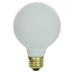 60 Watt G25 Globe, Medium Base, White