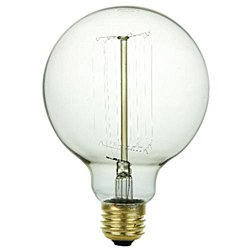 Sunlite 60 Watt Antique Vintage Style G30, Medium Base, Smoke, 60G30/AQ/T/SM