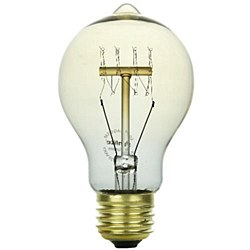Sunlite 60 Watt Antique Victorian Style A19, Medium Base, Smoke, 60A19/AQ/L/SM