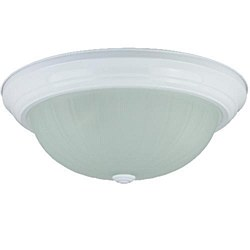 "Sunlite 15"" Decorative Dome Ceiling Fixture, Smooth White Finish, Frosted Glass, DWS15/FR"