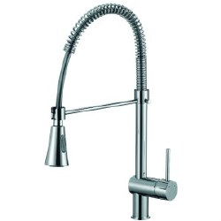 "Single Handle Spring Faucet 22"" in Polished Chrome"