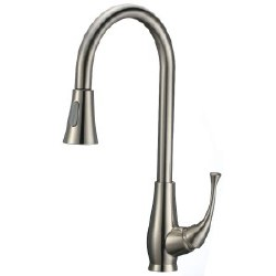 Pull-Down Kitchen Faucet, in Satin Nickel Finish