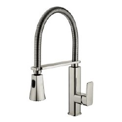 "Spring Kitchen Faucet 18.5"", in Brushed Nickel"