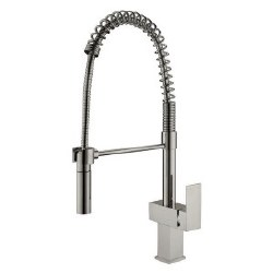 "Spring Kitchen Faucet 22.8"", in Brushed Nickel"