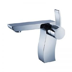Modern Contempo Single Hole Faucet in Chrome