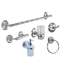 Round Accessory Set, 6 pcs, in Polished Chrome