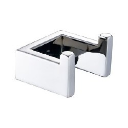 Generic Square Double Robe Hooks in Polished Chrome