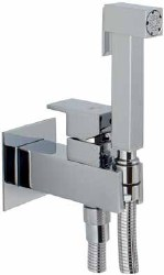 Toilet Tap Square for wall built-in in Polished Chrome
