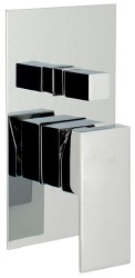MZ Cubic Trim Only, Tub/Shower, in Chrome, Rough-in Sold Separately