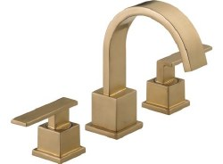 VERO Two Handle Widespread Lavatory Faucet, in Champagne Bronze