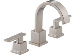 VERO Two Handle Widespread Lavatory Faucet, in Brilliance Stainless