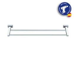 "Baño Diseño Lineas Double Towel Bar 16"" in Chrome"