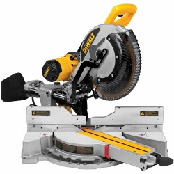 Miter Saw, DWS780, 2x12 in at 45 deg, 2x16 in at 90 deg, 12 in. Dia Blade, 1-Speed