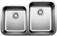 """Stellar 1-3/4 Bowl Reverse Undermount Kitchen Sink 32-1/3X20-1/2"""""""