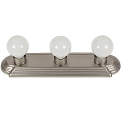 Sunlite 3 Lamp Vanity Globe Style Fixture, Brushed Nickel Finish, B318/BN