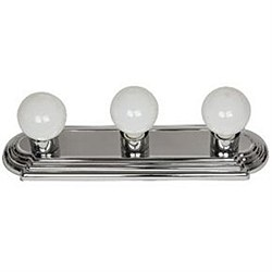3 Lamp Vanity Globe Style Fixture, Chrome Finish
