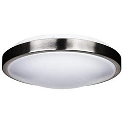 "Ceiling Fixture 14"" 23 Watt LED Decorative Band Trim, Brushed Nickel Finish Energy Star"