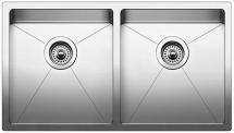 """Quatrus R15 Equal Double Bowl Undermount Kitchen Sink 32X18"""""""