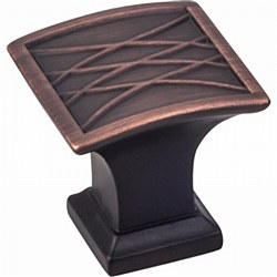 "Jeffrey Alexander Aberdeen Square Cabinet Knob 1-1/4"" in Brushed Oil Rubbed Bronze"