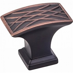 "Jeffrey Alexander Aberdeen Square Cabinet Knob 1-1/2"" in Brushed Oil Rubbed Bronze"