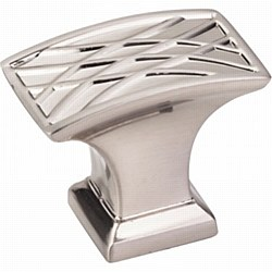 "Jeffrey Alexander Aberdeen Square Cabinet Knob 1-1/2"" in Satin Nickel"