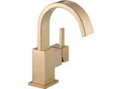 Delta Vero Single Handle Centerset Lavatory Faucet in Champagne Bronze