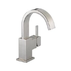 Delta Vero Single Handle Centerset Lavatory Faucet in Brilliance Stainless