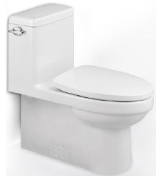 Architectura 1-PC Siphonic Toilet with Seat, in Alpin White