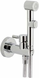 Toilet Tap Round for wall built-in in Polished Chrome