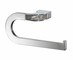 Carmen 6603 Large Towel Ring in Chrome with Swarovski Accents