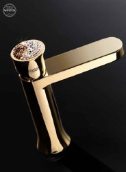 Muse Ceralun Diamond Swarovski Faucet in Rose Gold w/ Drain