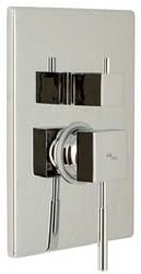 MZ Tetra Trim Only, Tub/Shower, in Chrome, Rough-in Sold Separately